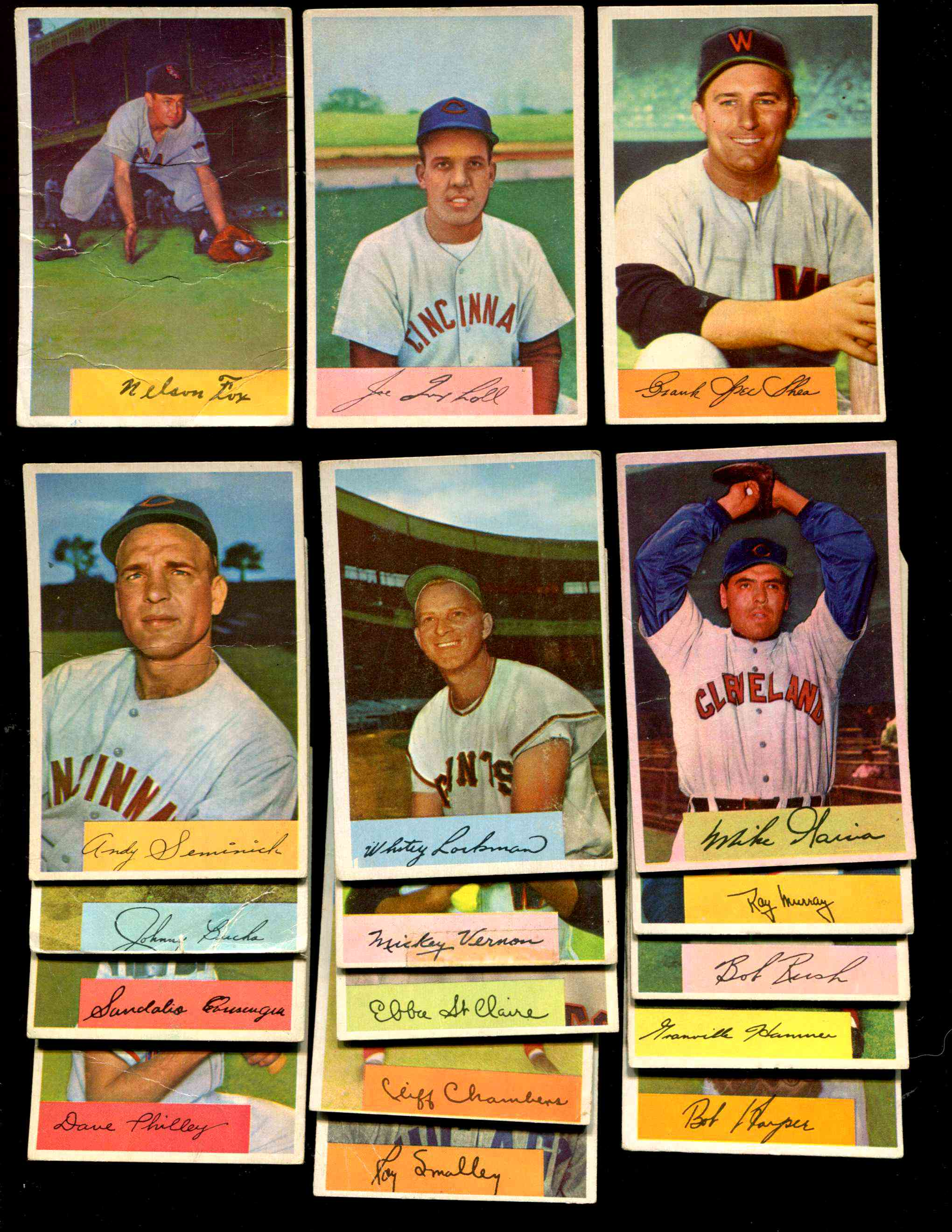 1954 Bowman #  - Lot of (17) different Baseball cards value