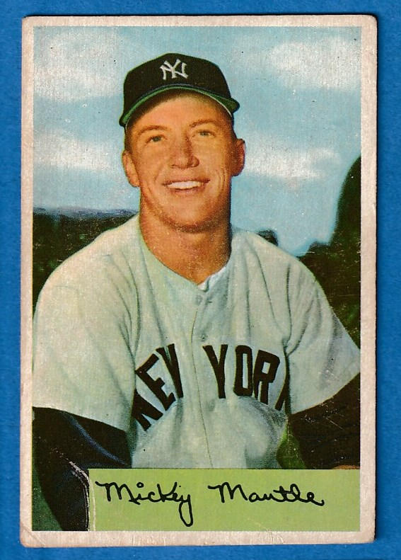 1954 Bowman # 65 Mickey Mantle (Yankees) Baseball cards value