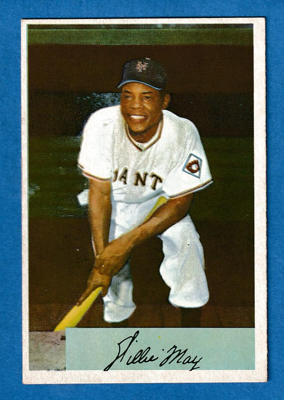 1954 Bowman # 89 Willie Mays [#r] (New York Giants) Baseball cards value