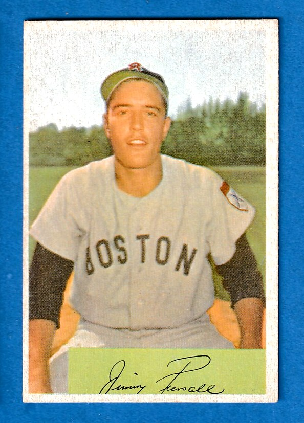 1954 Bowman #210 Jimmy Piersall [#a] (Red Sox) Baseball cards value
