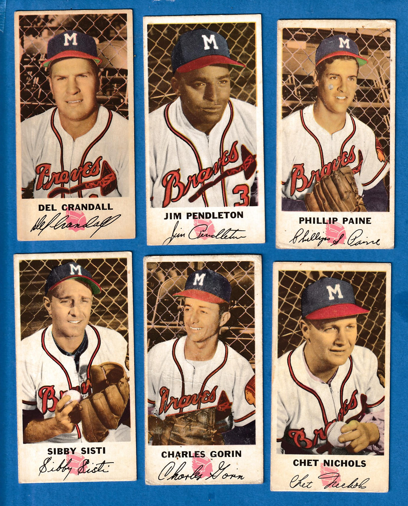 1954 Johnston Cookies # 3 Jim Pendleton (Braves) Baseball cards value