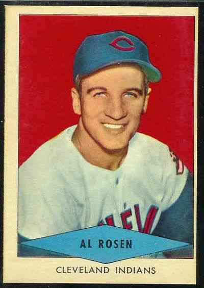 1954 Red Heart - Al Rosen SHORT PRINT (Indians) Baseball cards value