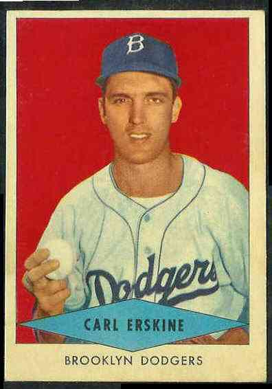 1954 Red Heart - Carl Erskine SHORT PRINT (Dodgers) Baseball cards value