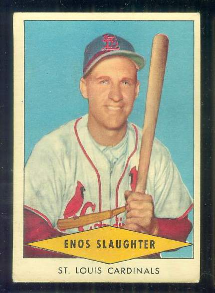 1954 Red Heart - Enos Slaughter (Cardinals) Baseball cards value