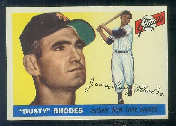 1955 Topps #..1 Dusty Rhodes ROOKIE [#c] (NY Giants) Baseball cards value