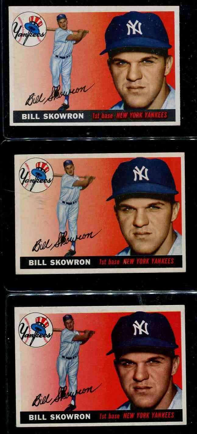 1955 Topps #.22 Bill 'Moose' Skowron (Yankees) Baseball cards value