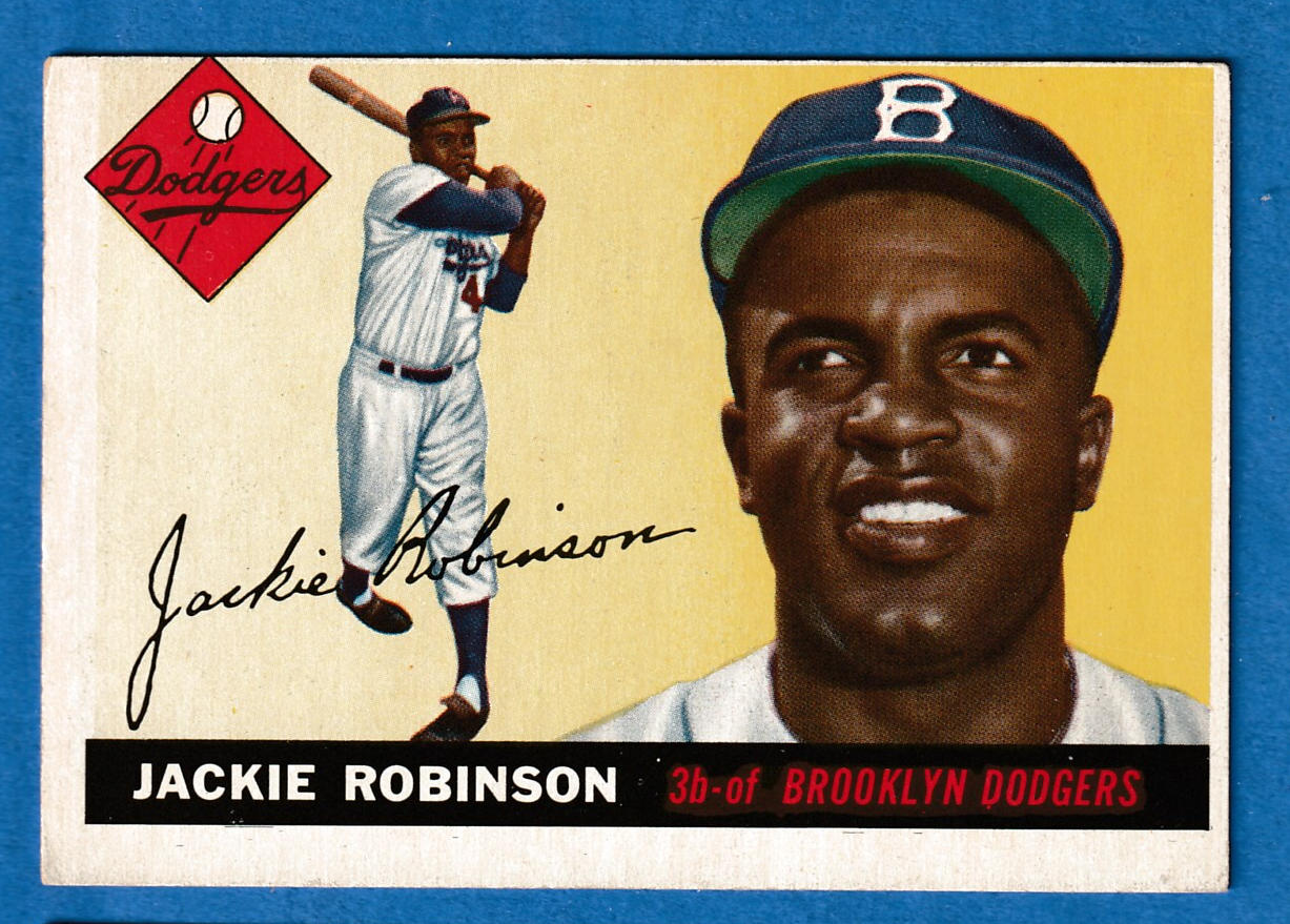 1955 Topps # 50 Jackie Robinson [#r] (Brooklyn Dodgers) Baseball cards value