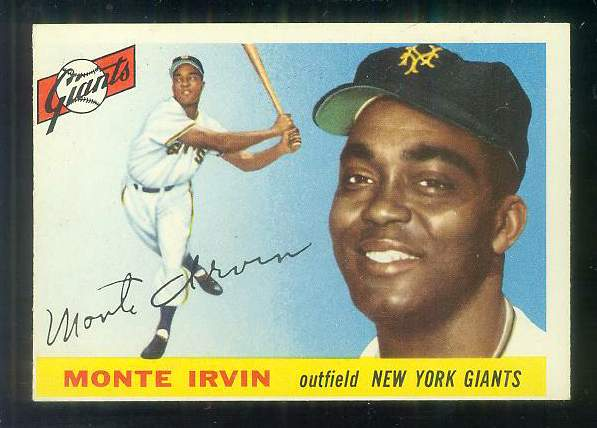 1955 Topps #100 Monte Irvin [#bsc] (NY Giants) Baseball cards value
