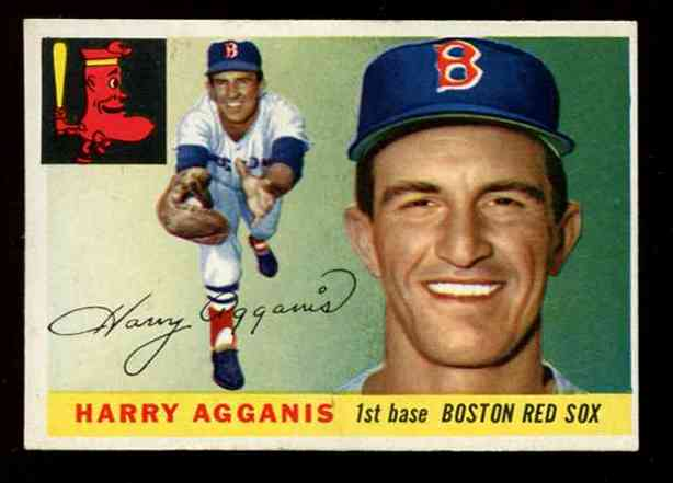 1955 Topps #152 Harry Agganis ROOKIE HIGH NUMBER [#x] (Red Sox) Baseball cards value