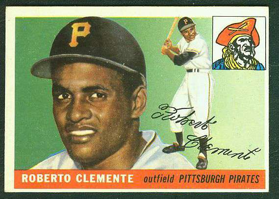 1955 Topps #164 Roberto Clemente ROOKIE [#j2] SCARCE HIGH NUMBER (Pirates) Baseball cards value