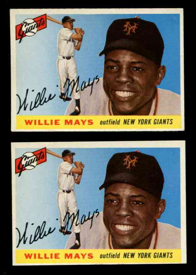 1955 Topps #194 Willie Mays [#j1] SCARCE HIGH NUMBER (NY Giants) Baseball cards value