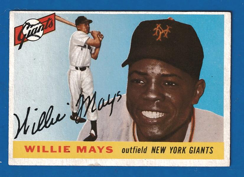 1955 Topps #194 Willie Mays SCARCE HIGH NUMBER [#r] (NY Giants) Baseball cards value
