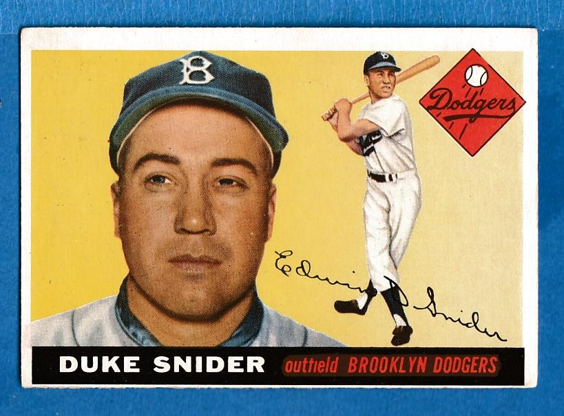 1955 Topps #210 Duke Snider SCARCE HIGH NUMBER [#r] (Brooklyn Dodgers) Baseball cards value
