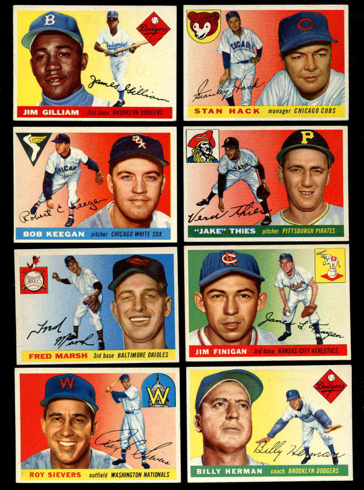 1955 Topps #..6 Stan Hack [#x] (Cubs Manager) Baseball cards value