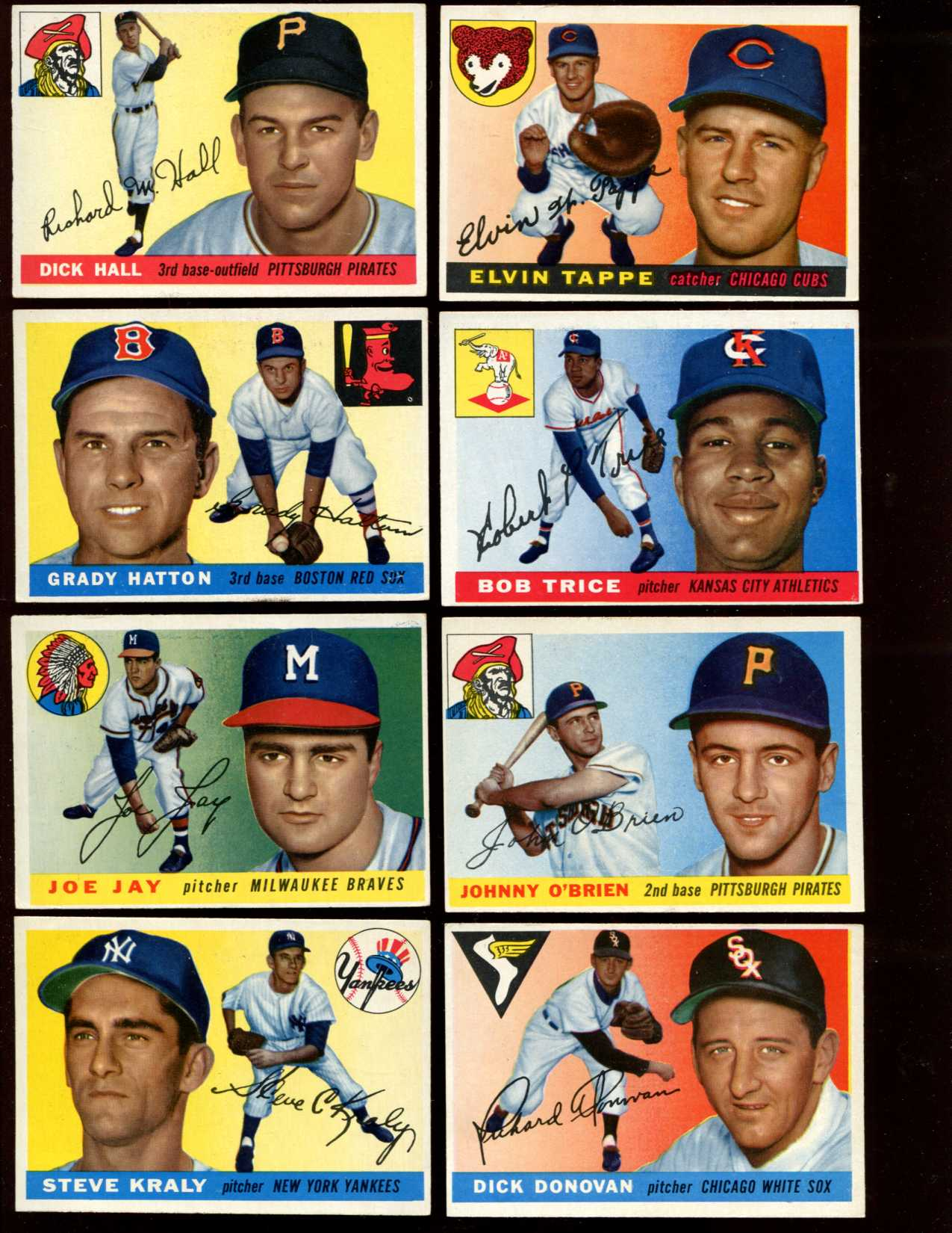 1955 Topps #139 Steve Kraly [#x] (Yankees) Baseball cards value