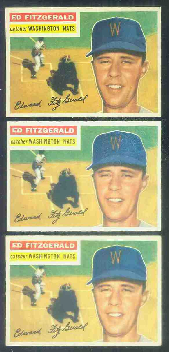 1956 Topps #198 Ed Fitzgerald (Washington Nationals/Senators) Baseball cards value