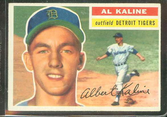1956 Topps # 20 Al Kaline (Tigers) Baseball cards value
