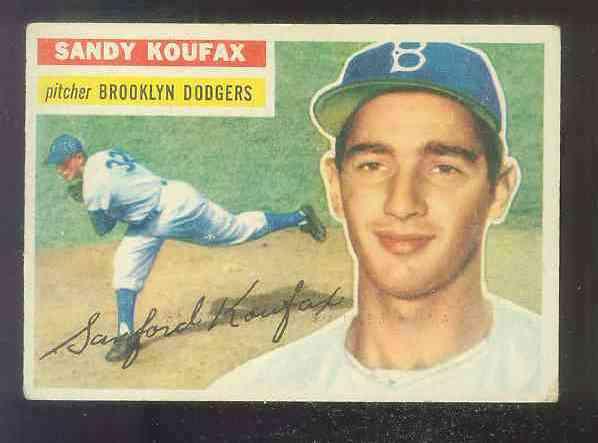 1956 Topps #.79 Sandy Koufax [#a] (Dodgers) Baseball cards value