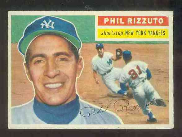 1956 Topps #113 Phil Rizzuto [#a] (Yankees) Baseball cards value