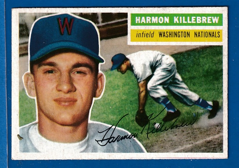 1956 Topps #164 Harmon Killebrew [#b] (Nats/Senators) Baseball cards value