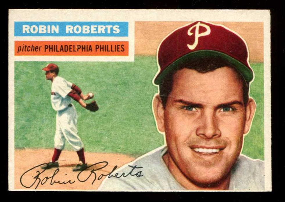 1956 Topps #180 Robin Roberts [#b] (Phillies) Baseball cards value