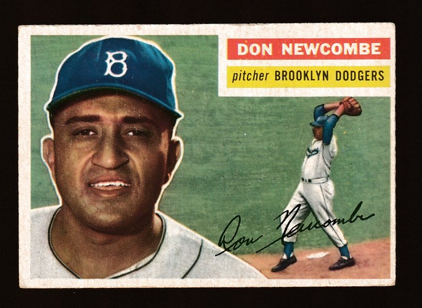 1956 Topps #235 Don Newcombe (Dodgers) Baseball cards value