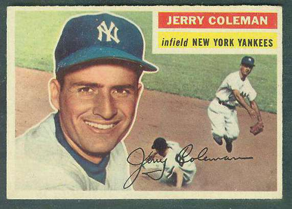 1956 Topps #316 Jerry Coleman [#b] (Yankees) Baseball cards value