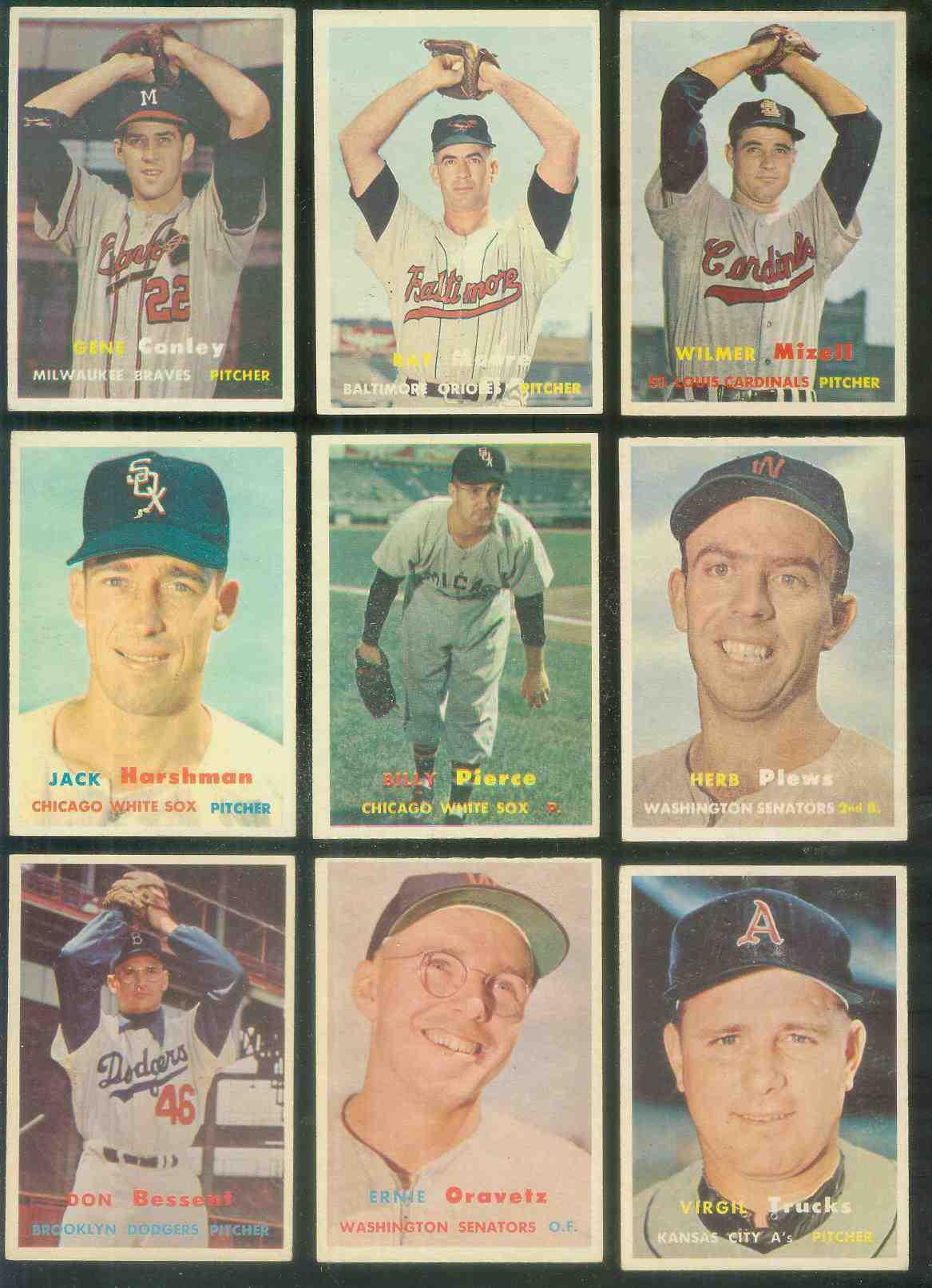 Robinson Drysdale Bunning Kubek Choose One Card...1957 Topps Baseball ROOKIE REPRINT Card B.Robinson F Colavito Mazeroski Richardson