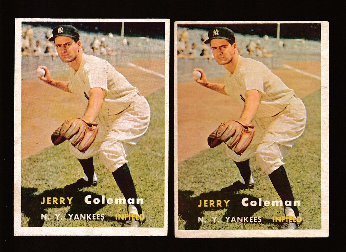 1957 Topps #192 Jerry Coleman (Yankees) Baseball cards value
