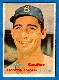 1957 Topps #302 Sandy Koufax SCARCE MID SERIES (Brooklyn Dodgers)