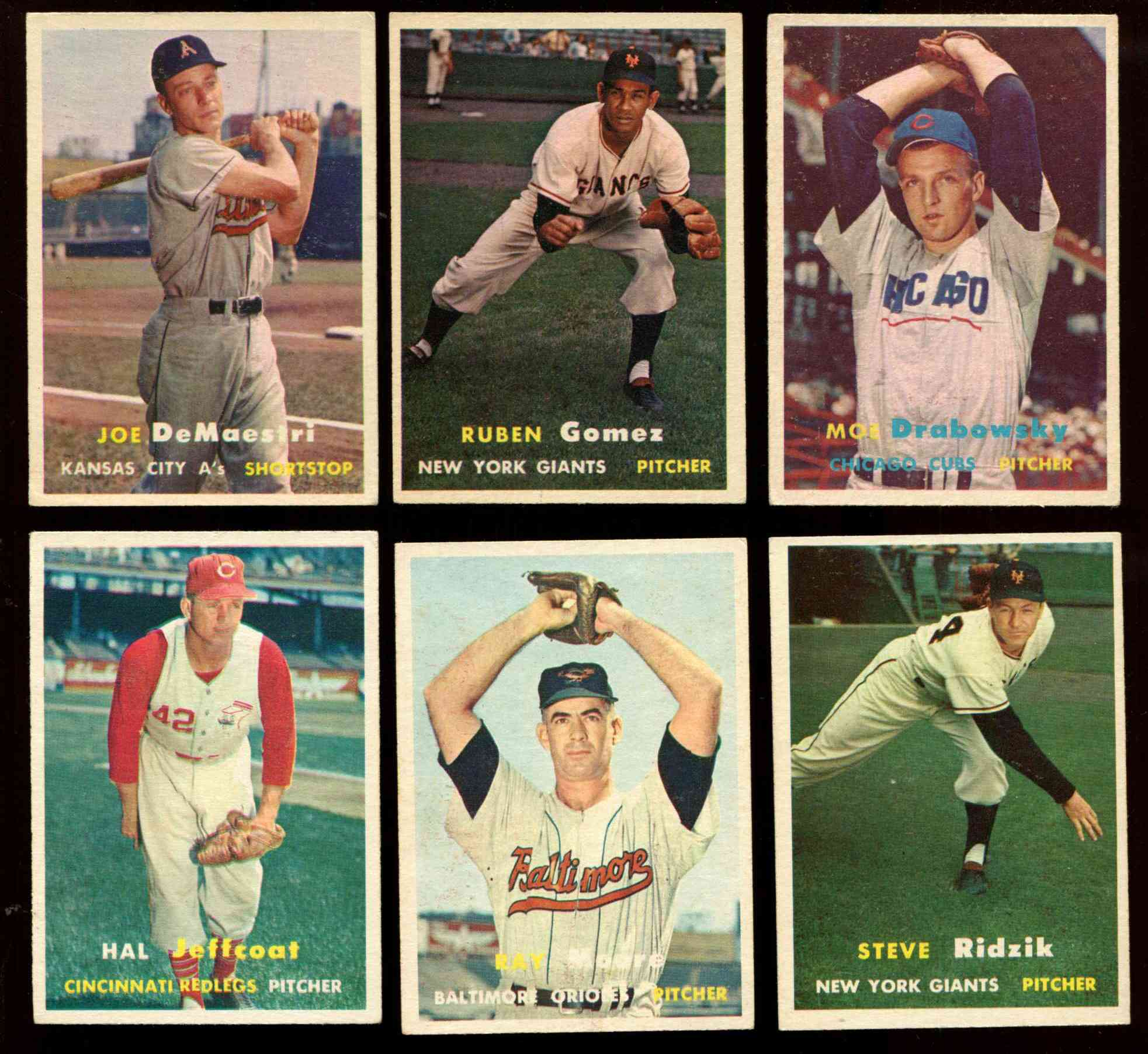 1957 Topps Baseball Cards Set Checklist Prices Values Information