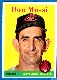 1958 Topps # 35B Don Mossi [VAR:YELLOW TEAM] (Indians)