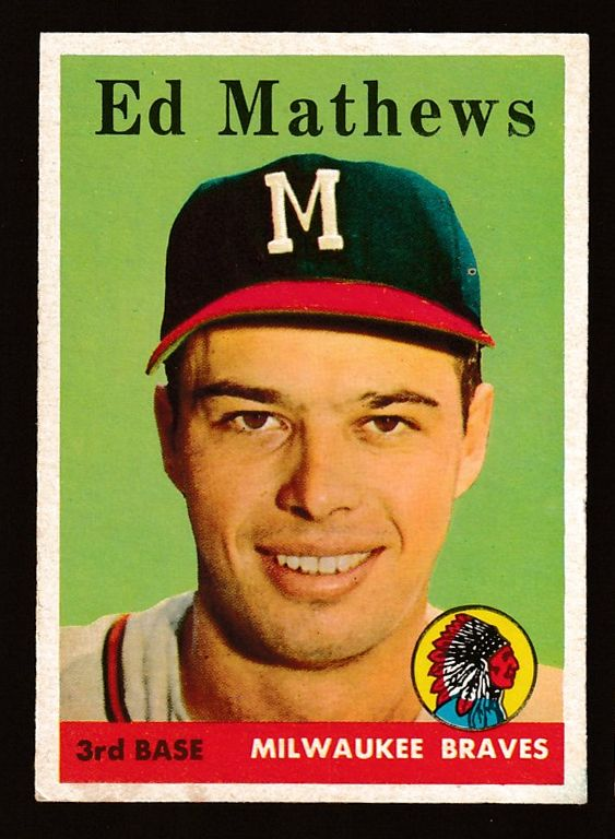 1958 Topps #440 Eddie Mathews (Braves) Baseball cards value