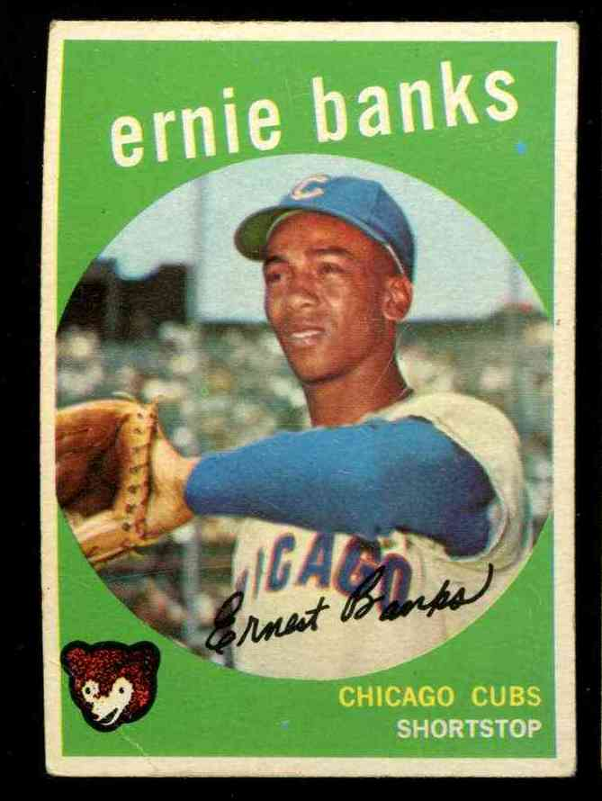 1959 Topps #350 Ernie Banks [#x] (Cubs) Baseball cards value