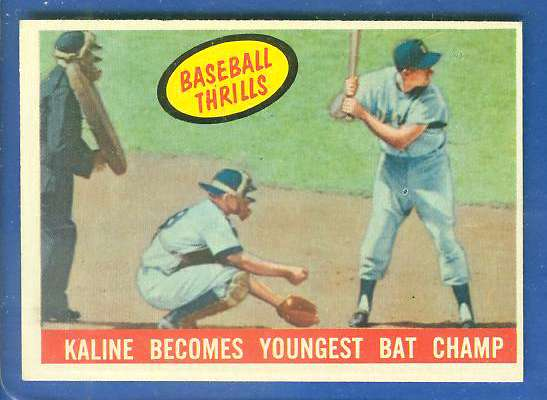 1959 Topps #463 Al Kaline 'Baseball Thrills' [#bsc] (Tigers) Baseball cards value