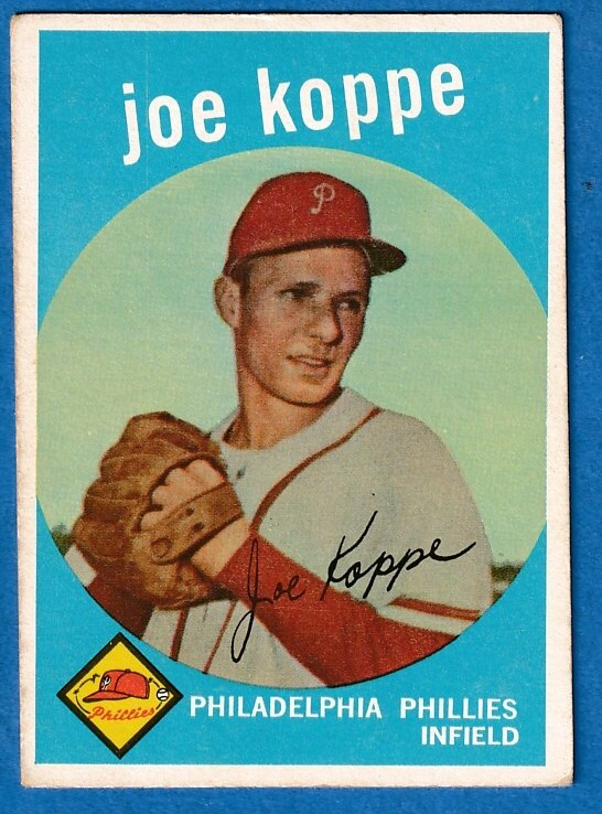 1959 Topps #517 Joe Koppe SCARCE HIGH # [#x] (Phillies)