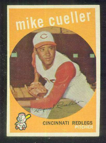 1959 Topps #518 Mike Cuellar ROOKIE UER SCARCE HIGH #.[#c] (Reds) Baseball cards value