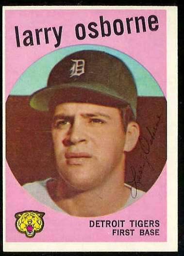 1959 Topps #524 Larry Osborne SCARCE HIGH # (Tigers) Baseball cards value