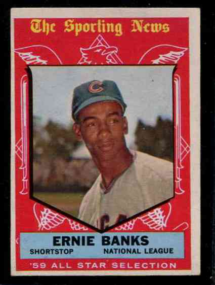 1959 Topps #559 Ernie Banks All-Star SCARCE HIGH # (Cubs) Baseball cards value