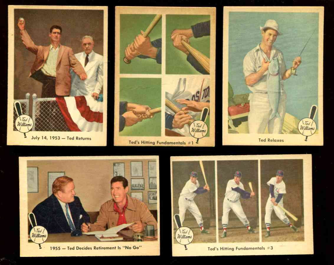 1959 Fleer Ted Williams #55 '1955 - Ted Decides Retirement is 'No Go'' [#x] Baseball cards value