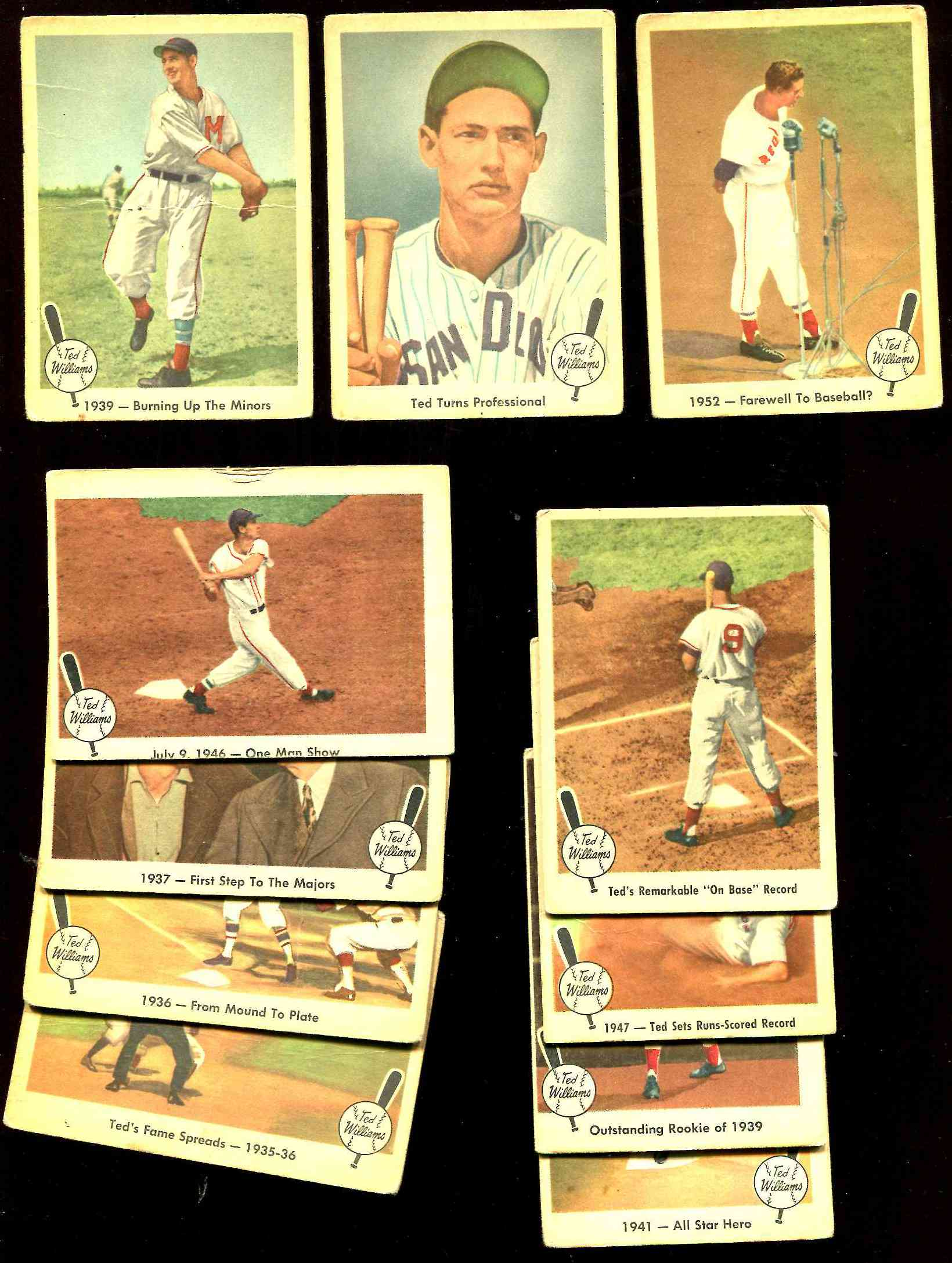 1959 Fleer Ted Williams  - Lot [#x] (11) different Baseball cards value