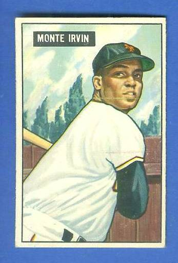 1951 Bowman #198 Monte Irvin ROOKIE (New York Giants) Baseball cards value
