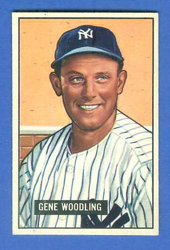 1951 Bowman #219 Gene Woodling ROOKIE (Yankees) Baseball cards value