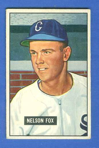 1951 Bowman #232 Nellie Fox ROOKIE (White Sox) Baseball cards value