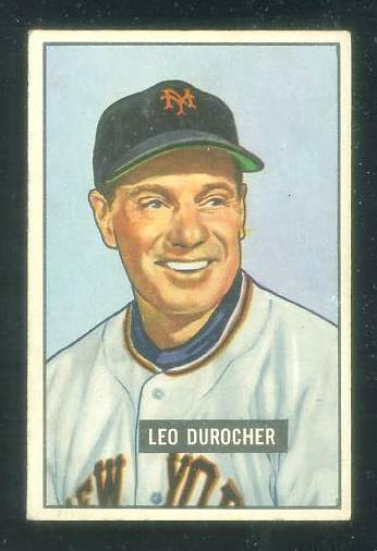 1951 Bowman #233 Leo Durocher [#b] (New York Giants) Baseball cards value