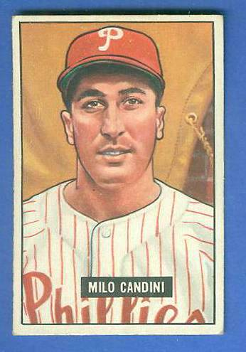1951 Bowman #255 Milo Candini SCARCE HIGH# (Phillies) Baseball cards value