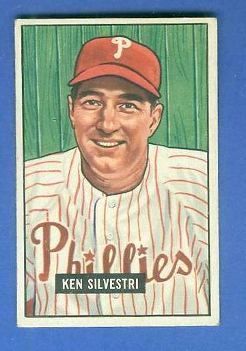 1951 Bowman #256 Ken Sylvestri SCARCE HIGH# (Phillies) Baseball cards value