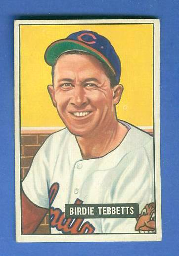 1951 Bowman #257 Birdie Tebbetts ROOKIE SCARCE HIGH# (Indians) Baseball cards value