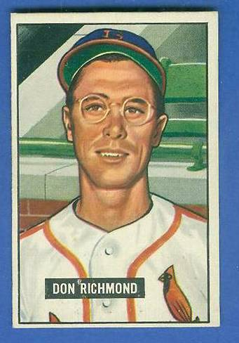 1951 Bowman #264 Don Richmond SCARCE HIGH# (Cardinals) Baseball cards value