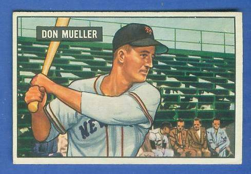 1951 Bowman #268 Don Mueller SCARCE HIGH# (New York Giants) Baseball cards value